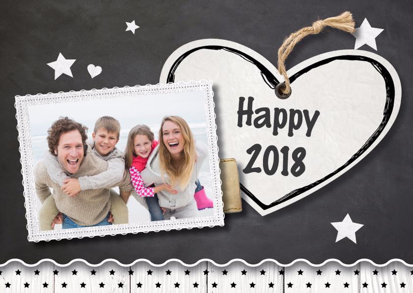 Nieuwjaarskaarten - Hippe nieuwjaarskaart - LO