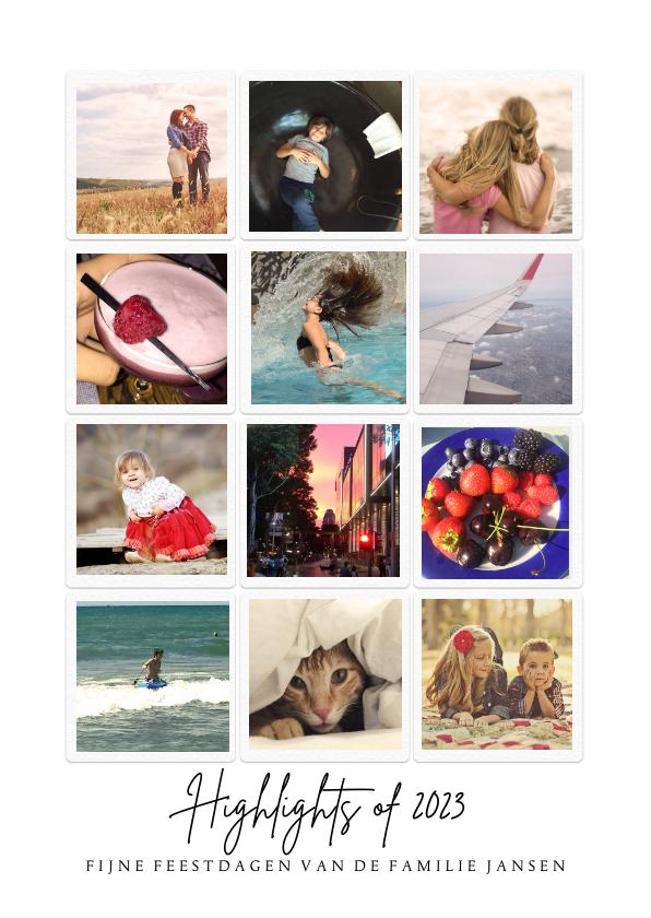 Nieuwjaarskaarten - Instagram kerstkaart Highlights
