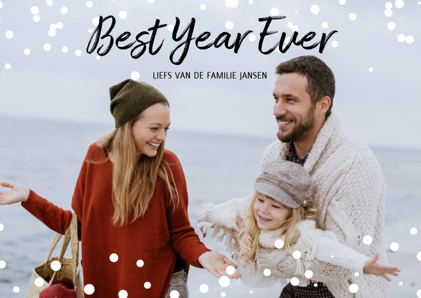 Nieuwjaarskaarten - Kerstkaart Best Year Ever