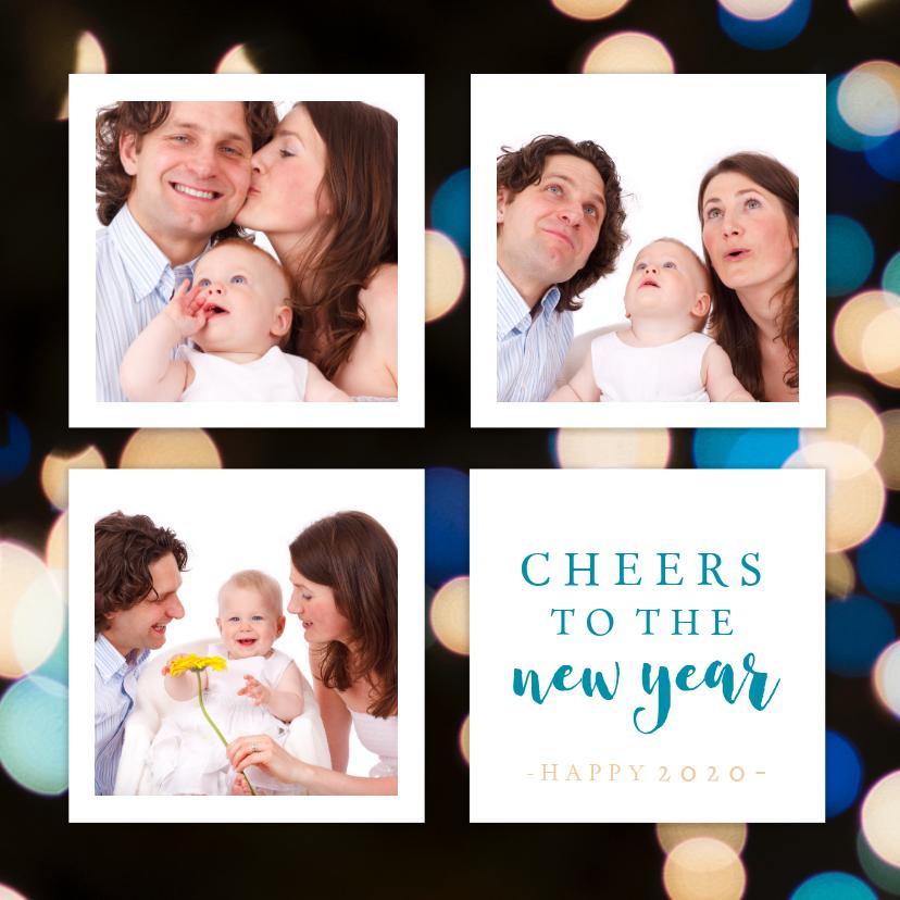 Nieuwjaarskaarten - Kerstkaart collage new year