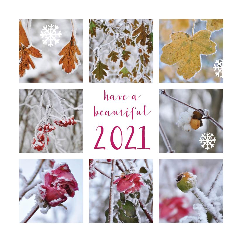 Nieuwjaarskaarten - Kerstkaart nieuwjaarskaart winterfoto