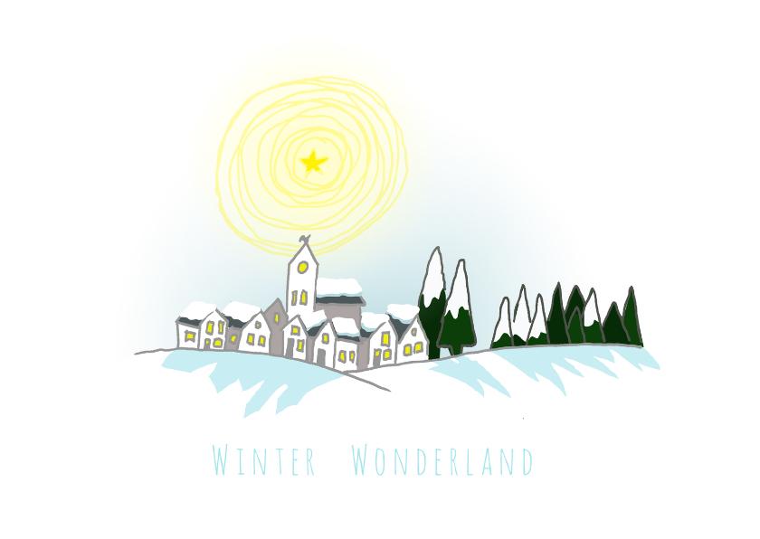 Nieuwjaarskaarten - kerstkaarten-winter wonderland