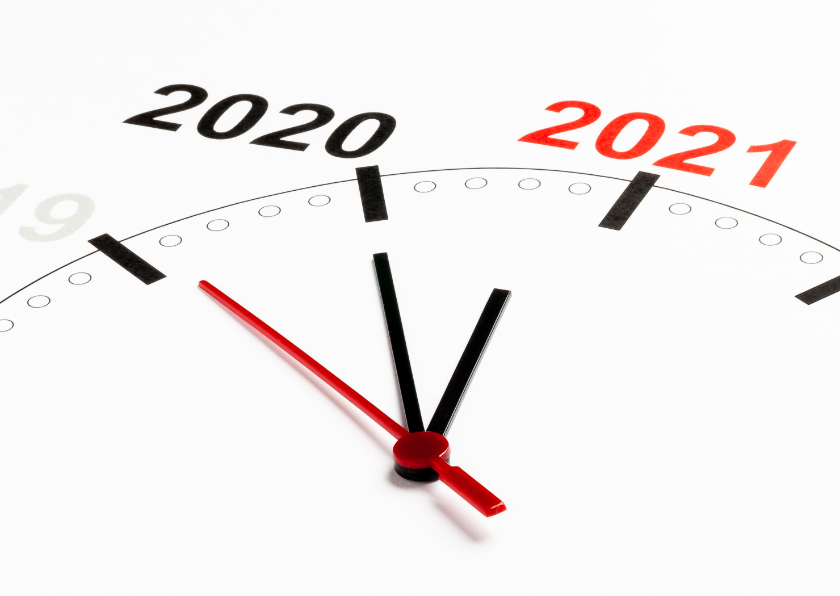 Nieuwjaarskaarten - Klok telt af naar 2021