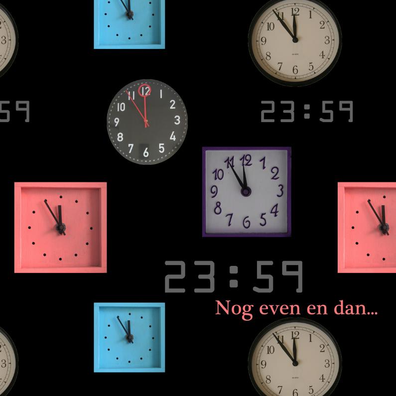 Nieuwjaarskaarten - Klokkenkaart