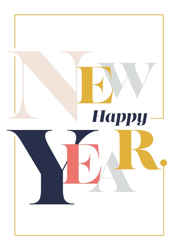 Nieuwjaarskaarten - Magazine typografie nieuwjaarskaart