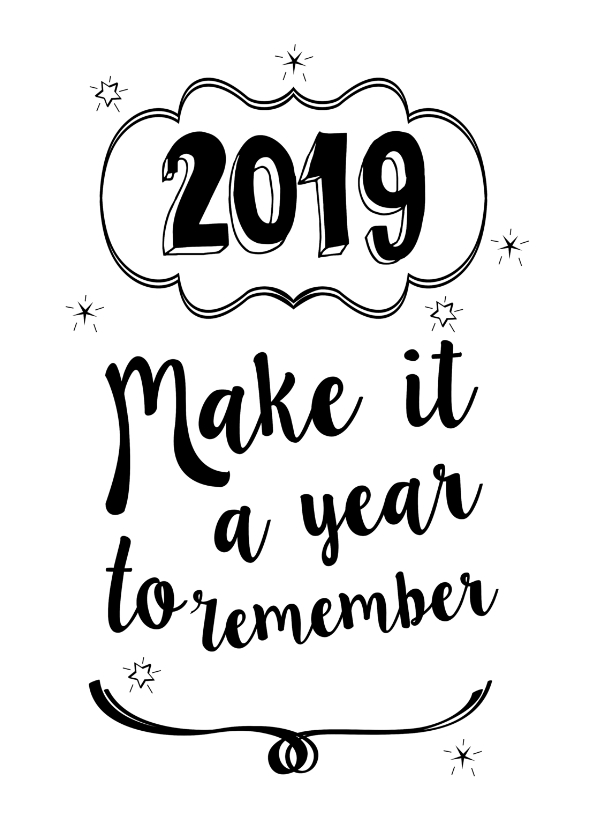 Nieuwjaarskaarten - Make it a year to remember 2019
