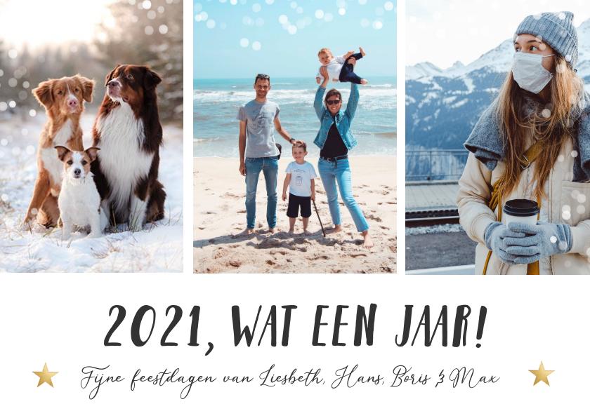 Nieuwjaarskaarten - Moderne fotocollage nieuwjaarskaart - 2021 wat een jaar