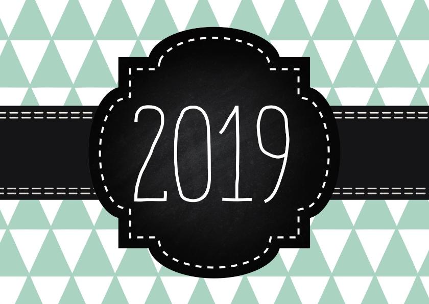 Nieuwjaarskaarten - Moderne nieuwjaarskaart voor zakelijk gebruik of prive
