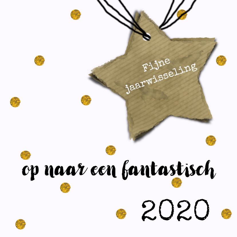 Nieuwjaarskaarten - Nieuwjaar 2018 gouden ster