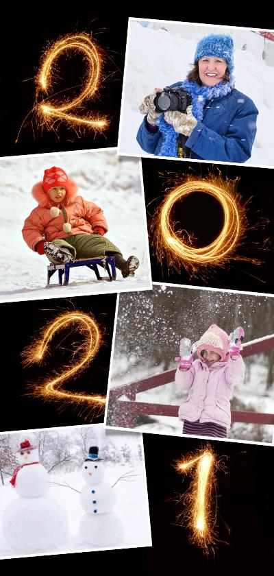 Nieuwjaarskaarten - Nieuwjaar 2021 vuurwerk fotocollage