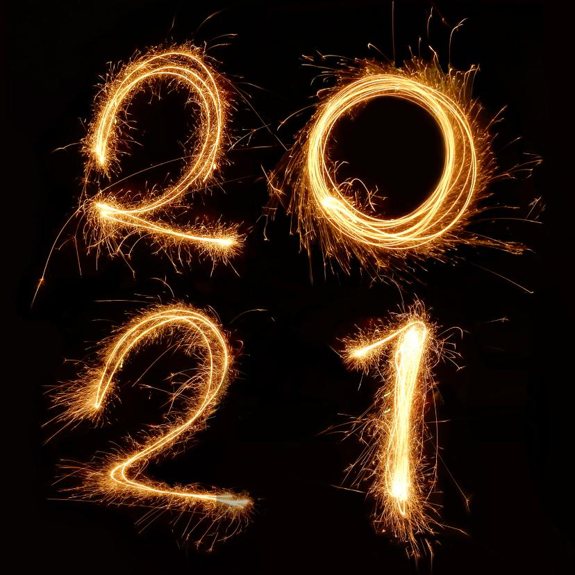 Nieuwjaarskaarten - Nieuwjaar - 2021 vuurwerk