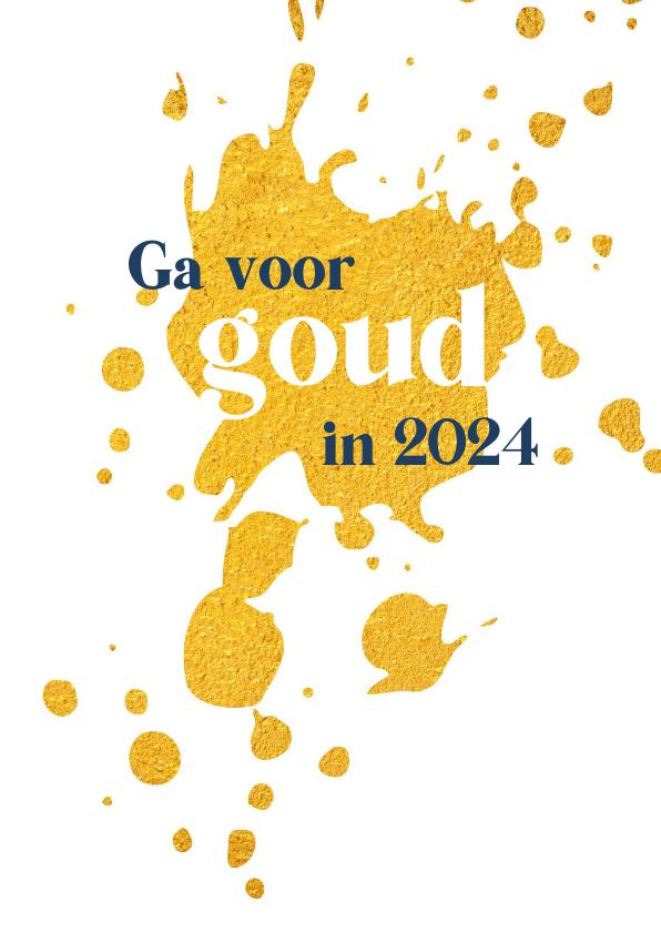 Nieuwjaarskaarten - Nieuwjaar Ga voor goud