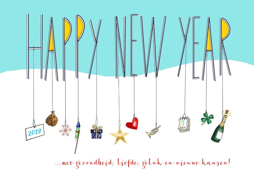 Nieuwjaarskaarten - Nieuwjaar - Happy New Year to you!