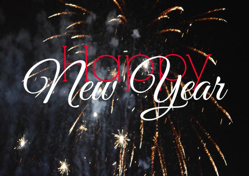 Nieuwjaarskaarten - Nieuwjaar knallend inluiden