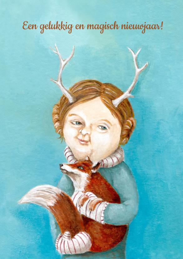 Nieuwjaarskaarten - Nieuwjaar - Lady of the Woods