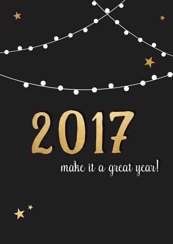 Nieuwjaarskaarten - Nieuwjaar lampjes sterren - DH