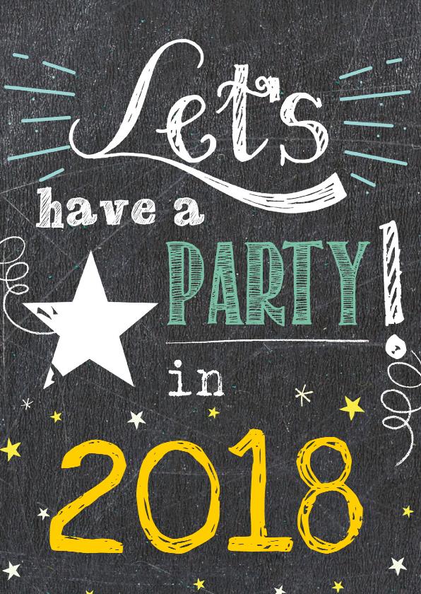 Nieuwjaarskaarten - Nieuwjaar Let's have a party '17