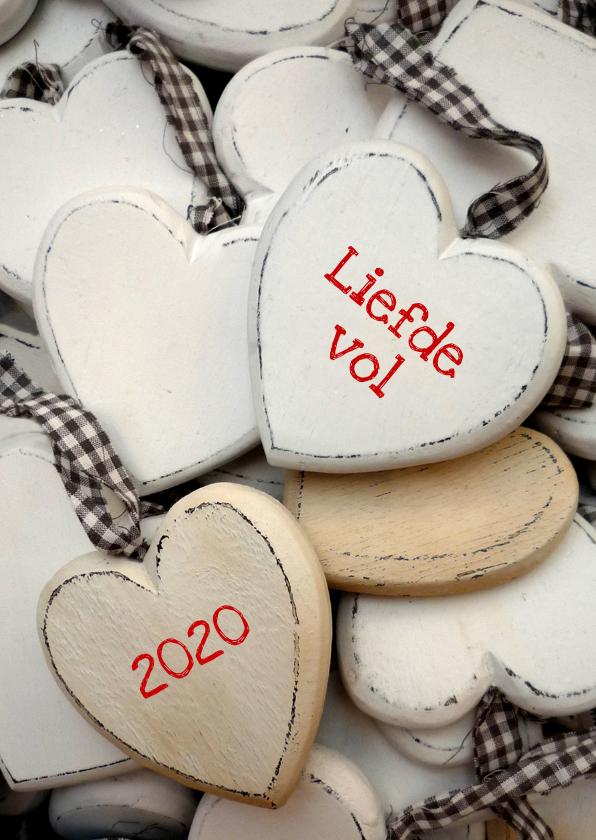 Nieuwjaarskaarten - Nieuwjaar Liefdevolle hartjes