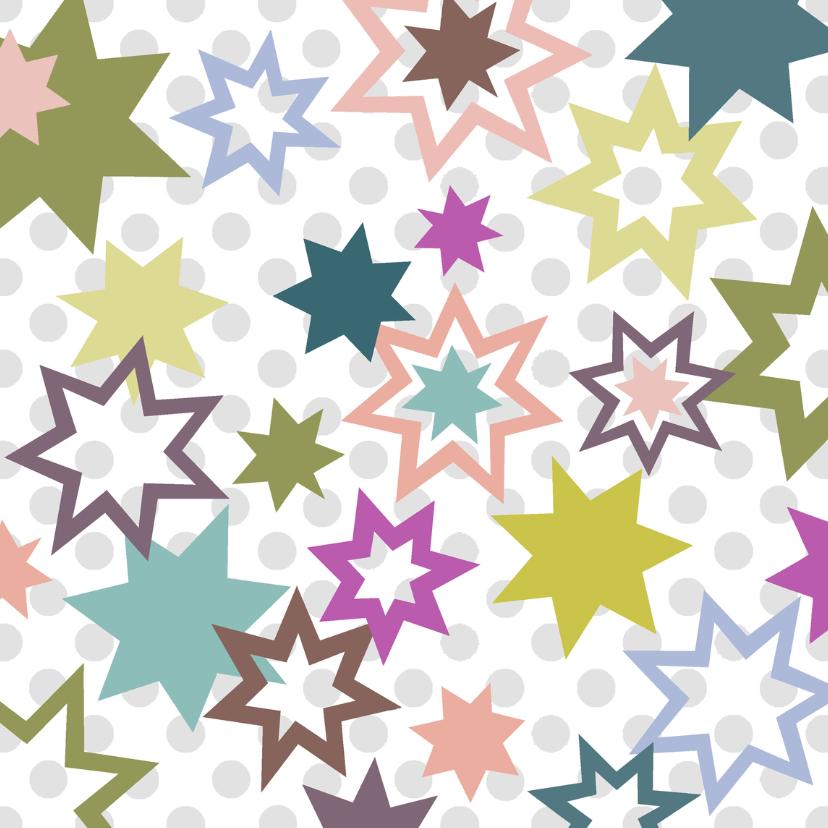 Nieuwjaarskaarten - Nieuwjaar Ster en Stip Pastel