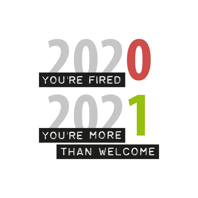 Nieuwjaarskaarten - Nieuwjaar You're fired