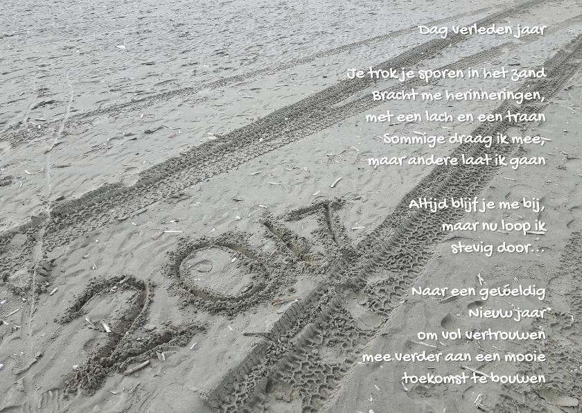 Nieuwjaarskaarten - Nieuwjaar zand gedicht 2017
