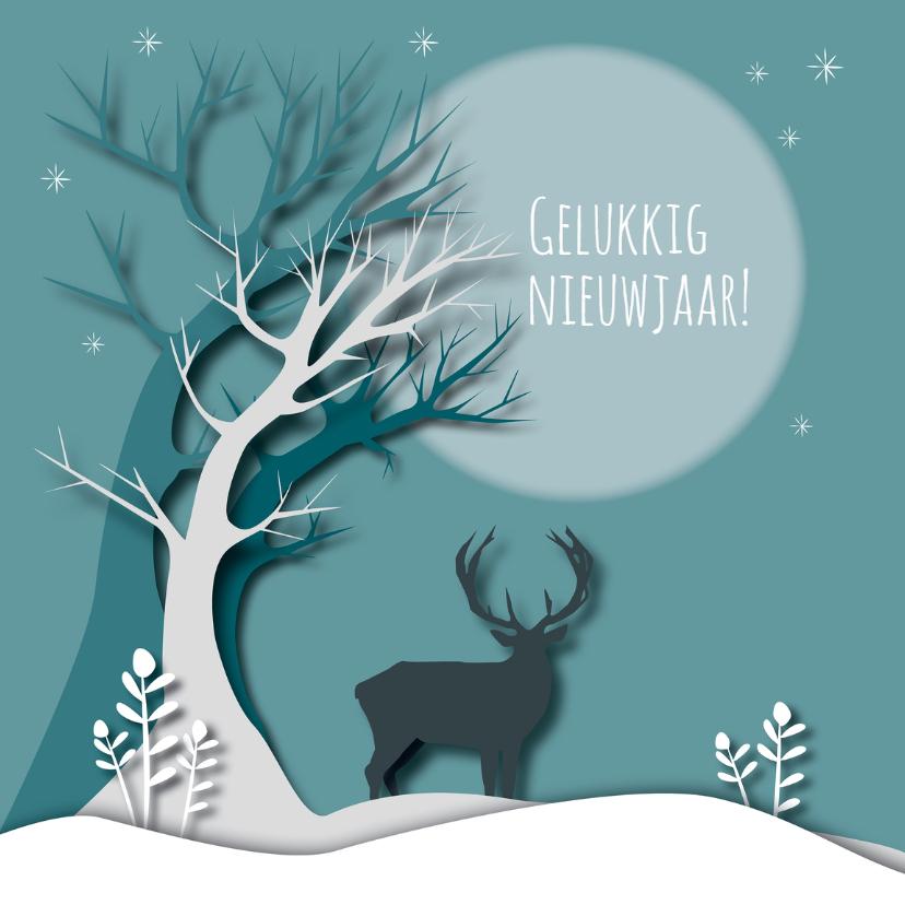 Nieuwjaarskaarten - Nieuwjaarkaart - New Woods Green