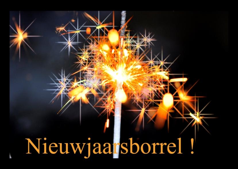 Nieuwjaarskaarten - nieuwjaars borrel