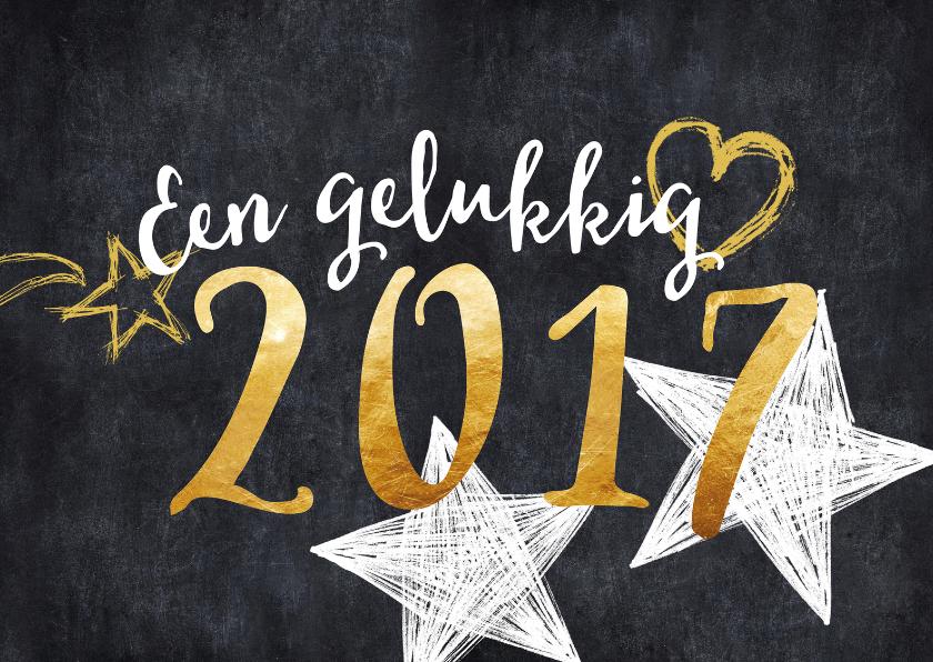 Nieuwjaarskaarten - Nieuwjaarskaart 2017 goud