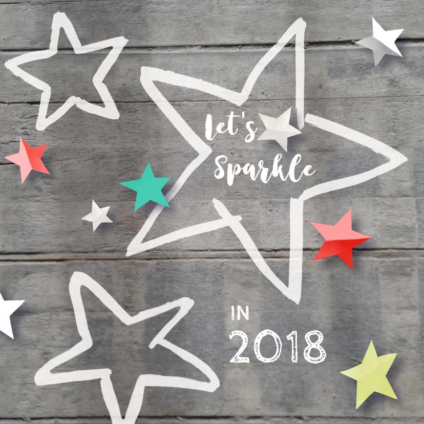 Nieuwjaarskaarten - nieuwjaarskaart 2018 sterren