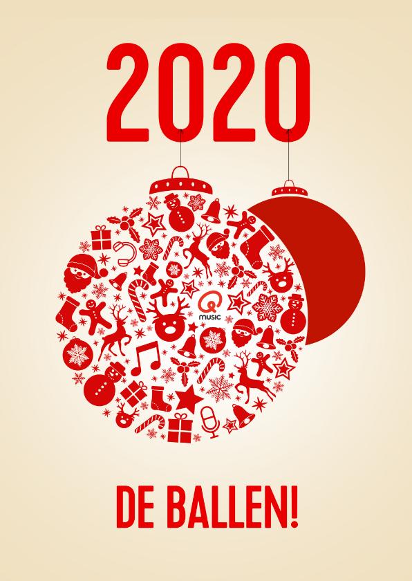Nieuwjaarskaarten - Nieuwjaarskaart 2020, de ballen!