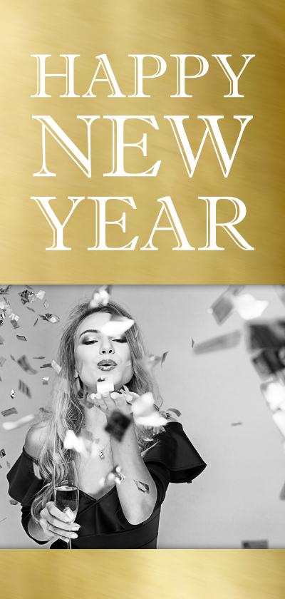 Nieuwjaarskaarten - Nieuwjaarskaart 2020 goud