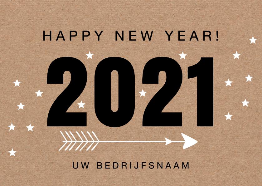 Nieuwjaarskaarten - Nieuwjaarskaart 2020 kraftprint