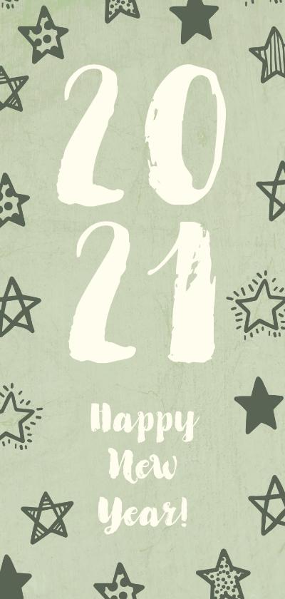 Nieuwjaarskaarten - Nieuwjaarskaart '2020' met sterren