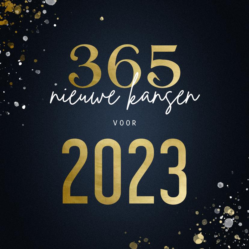 Nieuwjaarskaarten - Nieuwjaarskaart 365 nieuwe kansen voor 2022 stijlvol