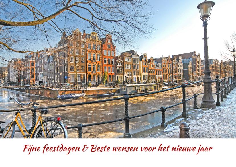 Nieuwjaarskaarten - Nieuwjaarskaart- Amsterdam-Canal