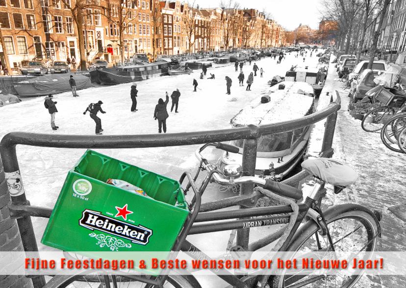 Nieuwjaarskaarten - Nieuwjaarskaart- Amsterdam skate
