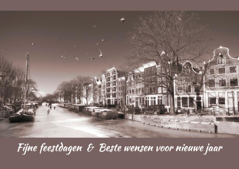 Nieuwjaarskaarten - Nieuwjaarskaart-Amsterdam winter
