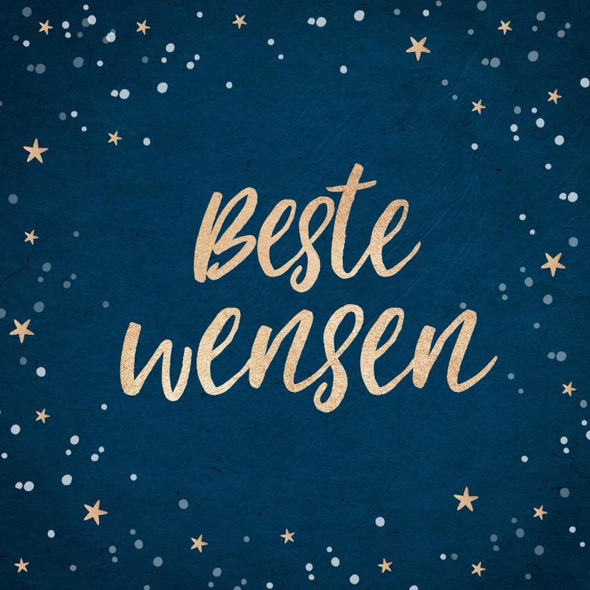 Nieuwjaarskaarten - Nieuwjaarskaart beste wensen goud confetti foto