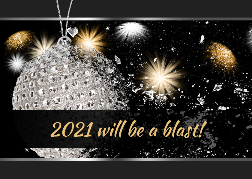 Nieuwjaarskaarten - Nieuwjaarskaart Blast 2021 RB