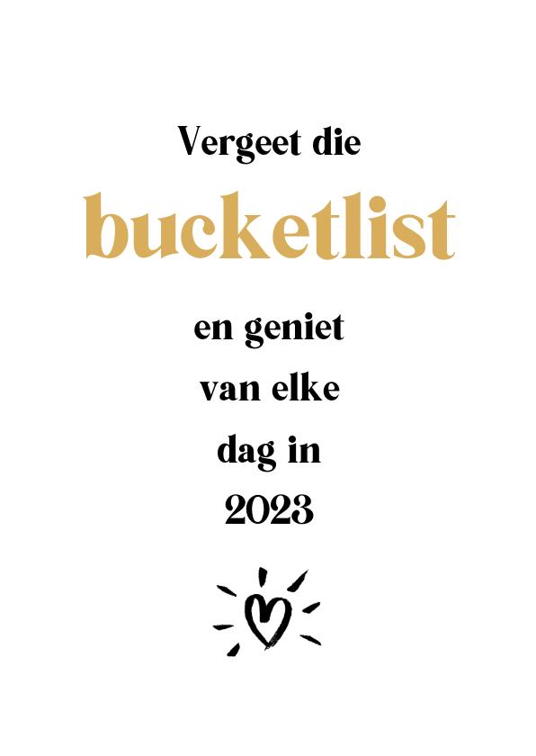 Nieuwjaarskaarten - Nieuwjaarskaart bucketlist