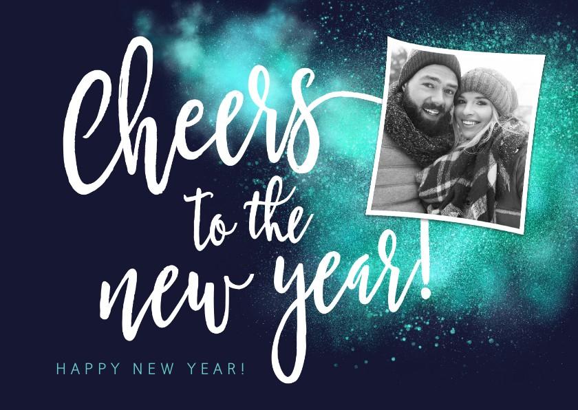 Nieuwjaarskaarten - Nieuwjaarskaart Cheers foto sparkle
