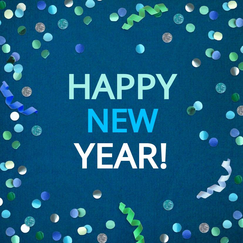 Nieuwjaarskaarten - Nieuwjaarskaart confetti