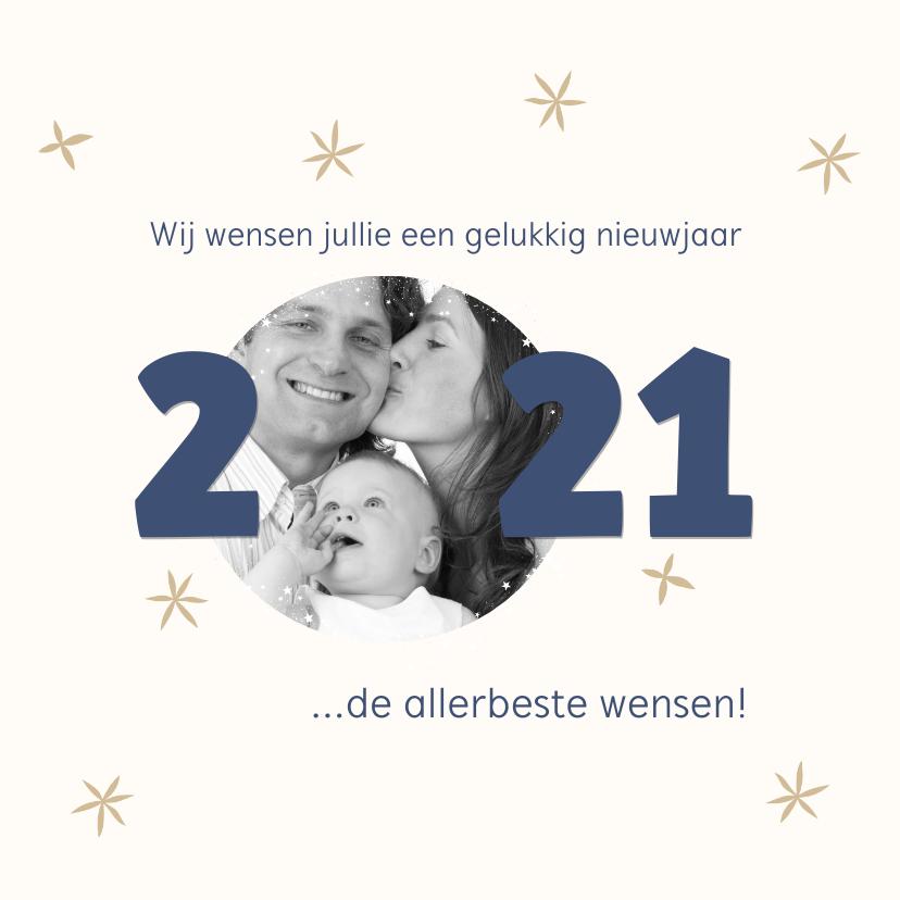 Nieuwjaarskaarten - Nieuwjaarskaart foto 2021 kader