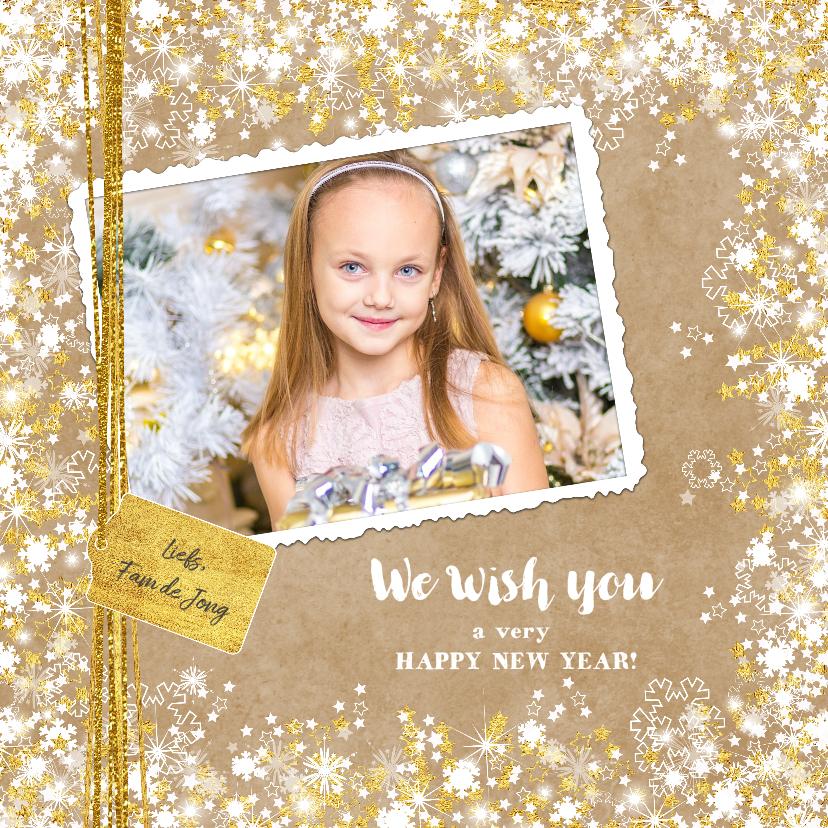 Nieuwjaarskaarten - Nieuwjaarskaart foto sfeervol en romantisch kraft