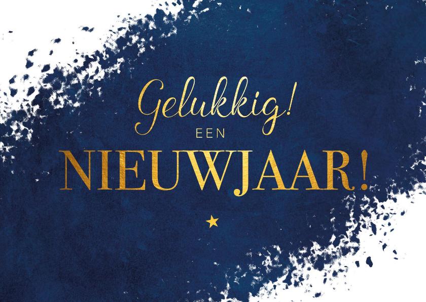 Nieuwjaarskaarten - Nieuwjaarskaart Gelukkig een nieuwjaar!