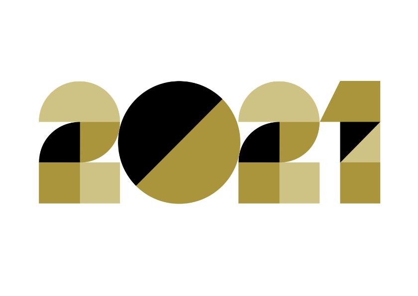 Nieuwjaarskaarten - Nieuwjaarskaart - geometrische 2021