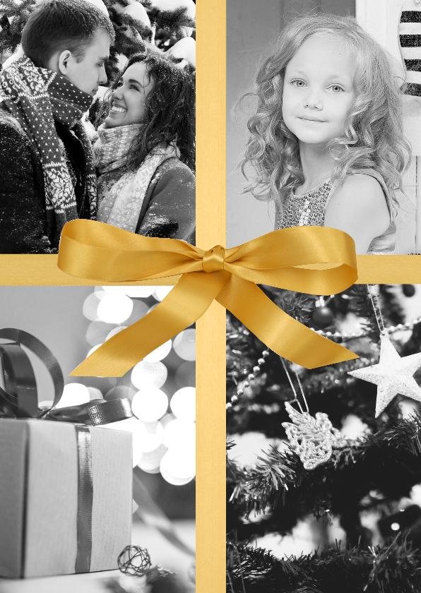 Nieuwjaarskaarten - Nieuwjaarskaart Golden Bow luxe