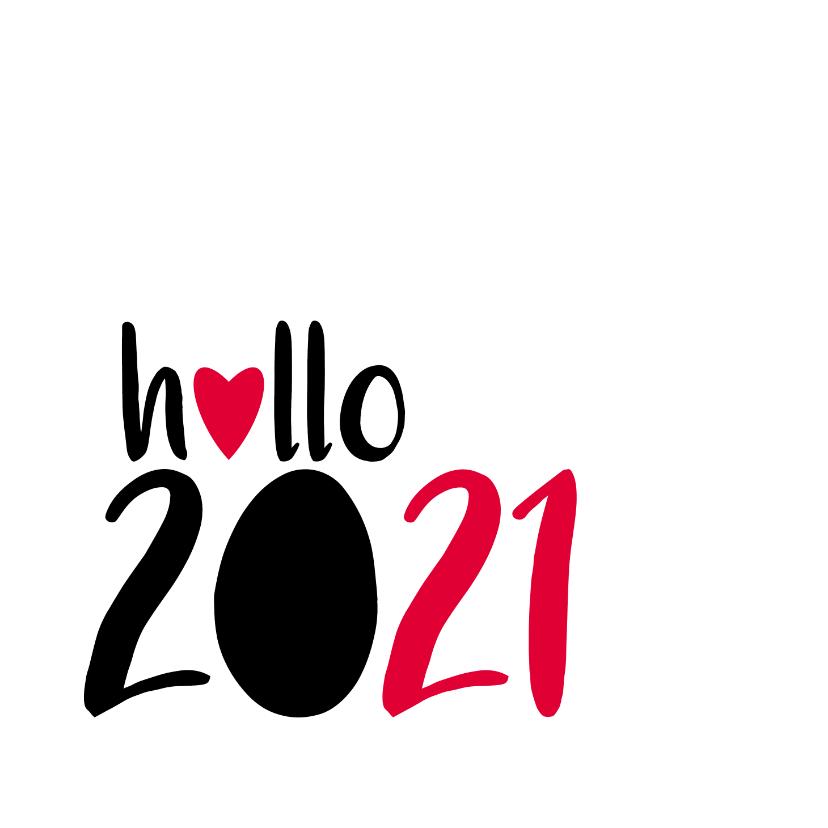 Nieuwjaarskaarten - nieuwjaarskaart hallo 2021