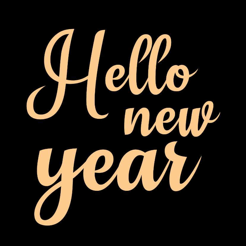 Nieuwjaarskaarten - Nieuwjaarskaart Hello new year - SK