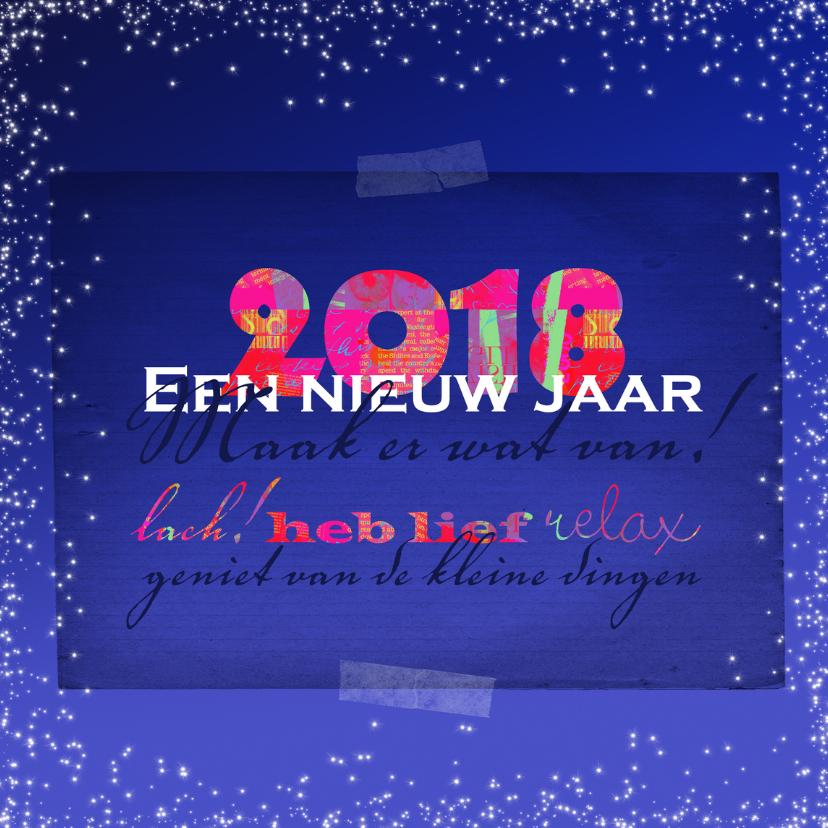Nieuwjaarskaarten - Nieuwjaarskaart inspirerende tekst